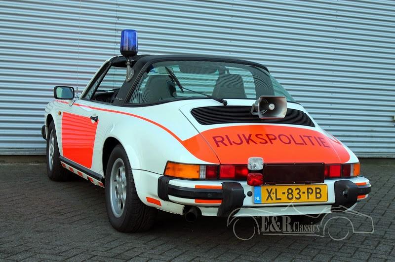For Sale 1989 Porsche 911 Targa Police Car From Holland