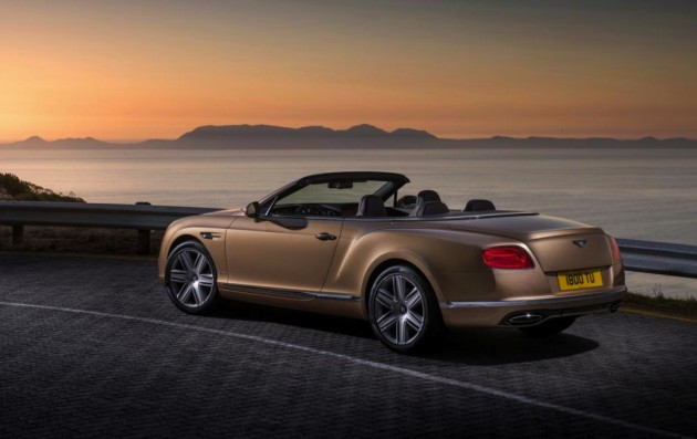 2015 Bentley Continental GT convertible-rear