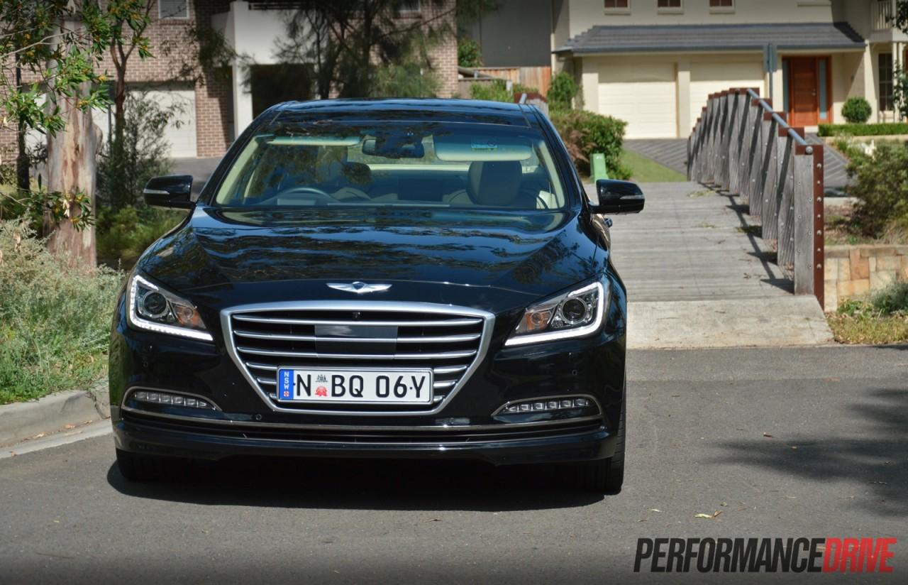 2015 Hyundai Genesis Ultimate Pack review video  PerformanceDrive