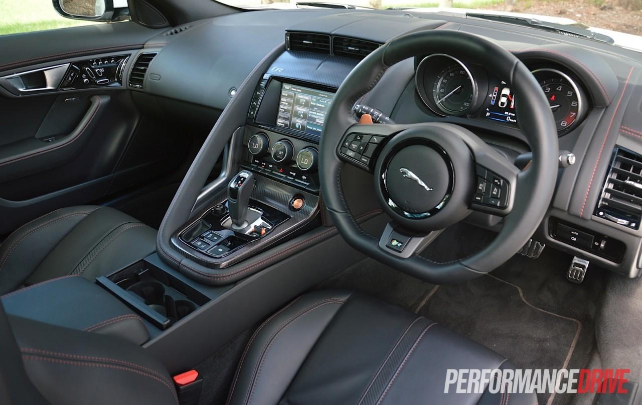 2015 jaguar f type r coupe review video performancedrive - Jaguar f type r coupe interior ...