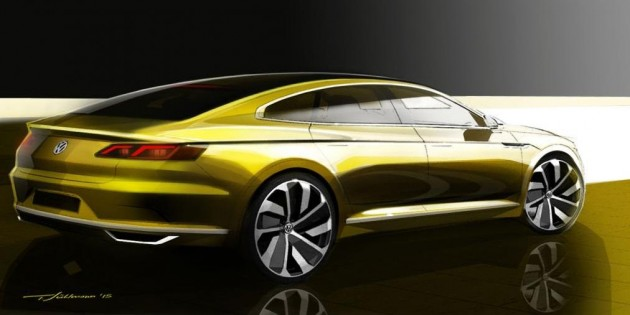 2017 Volkswagen CC concept-rear