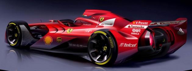 Ferrari F1 car of the future-rear