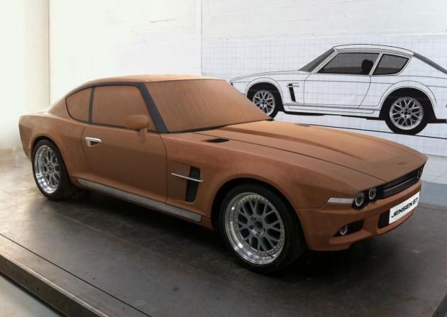 Jensen GT clay model