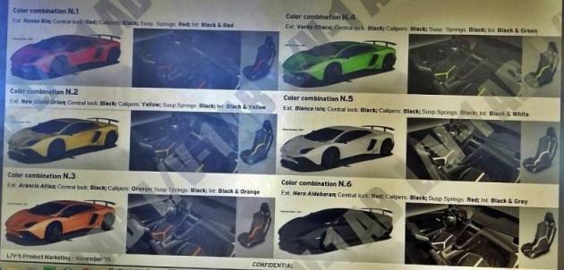 Lamborghini Aventador SV brochure