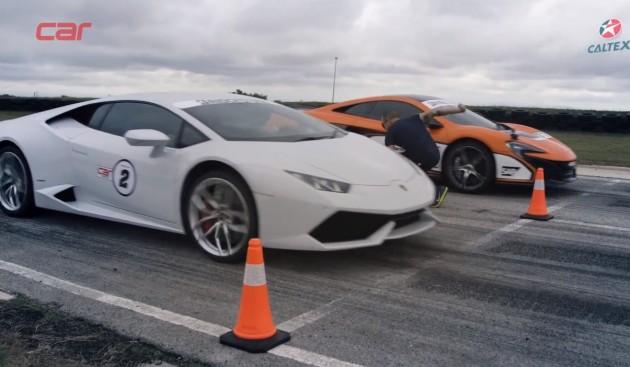 Lamborghini vs McLaren 650S
