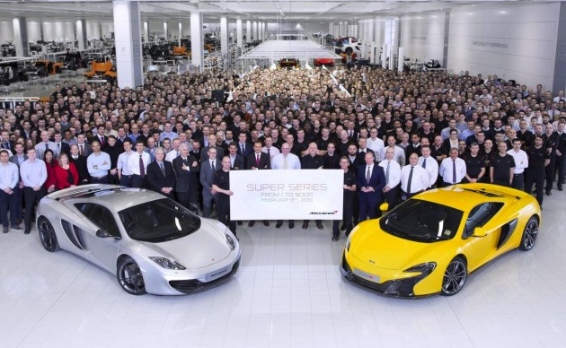 McLaren 5000th model Super Series