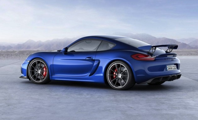 Porsche Cayman GT4-back