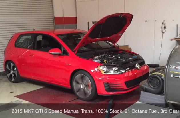 Volkswagen Golf GTI Mk7 dyno