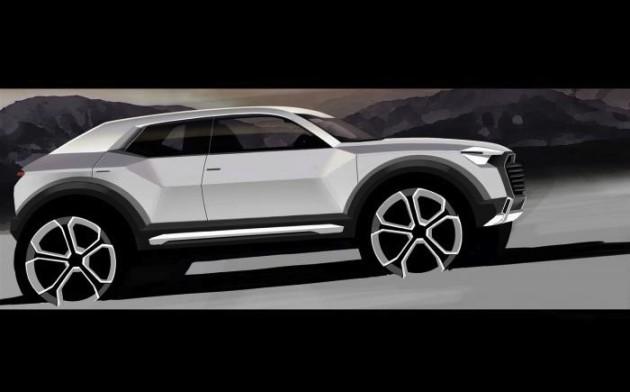 2016 Audi Q1 preview sketch
