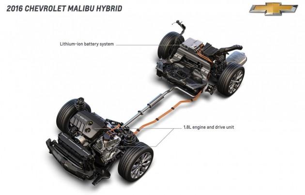 2016 Chevrolet Malibu Hybrid powertrain