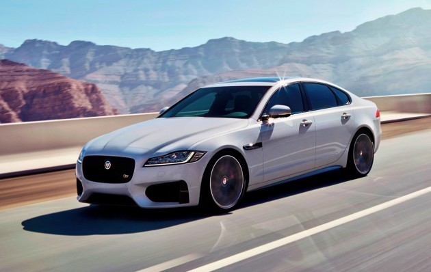 2016 Jaguar XF-driving