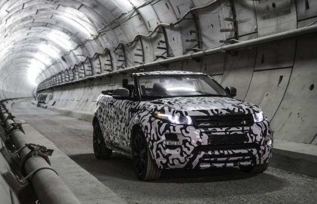 Range Rover Evoque Convertible prototype