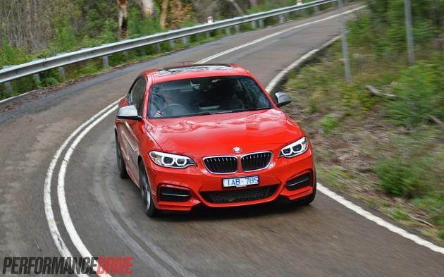 2015 BMW M235i-cornering