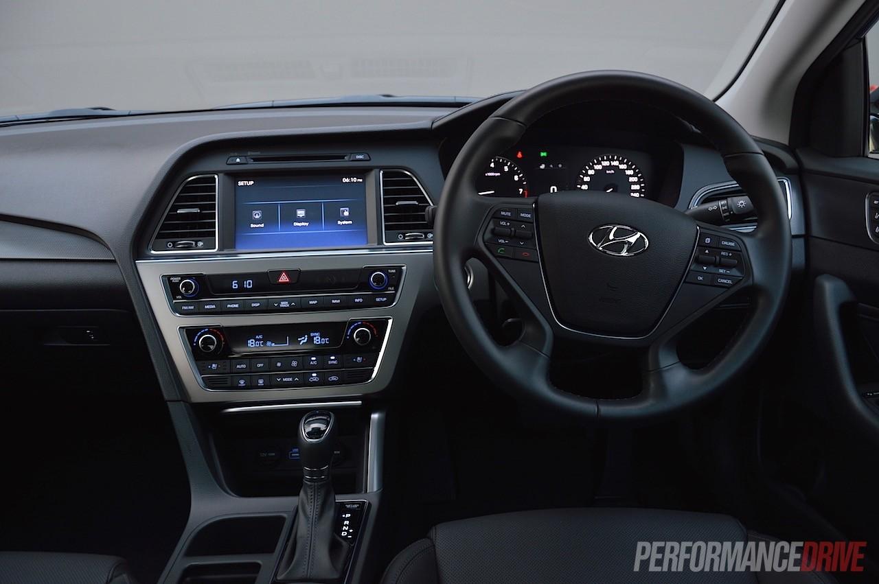 2015 Hyundai Sonata Premium 2.0T review (video ... Hyundai Sonata 2017 Interior