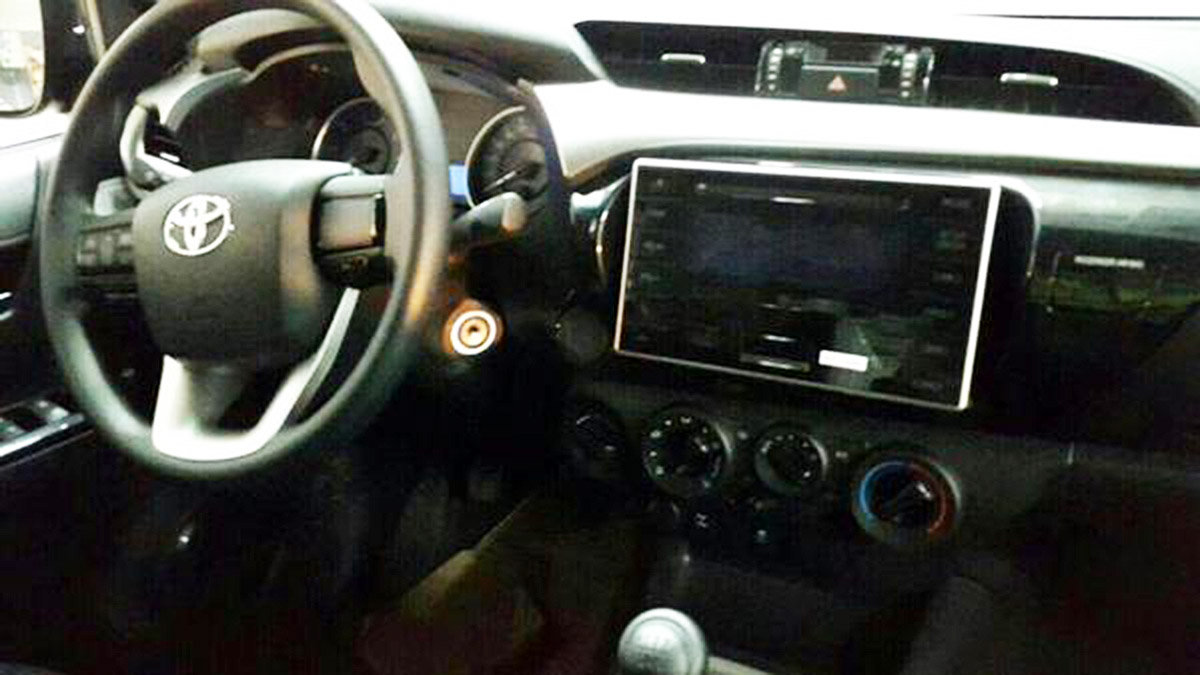 2016 Toyota HiLux photographed in factory, interior shown ...