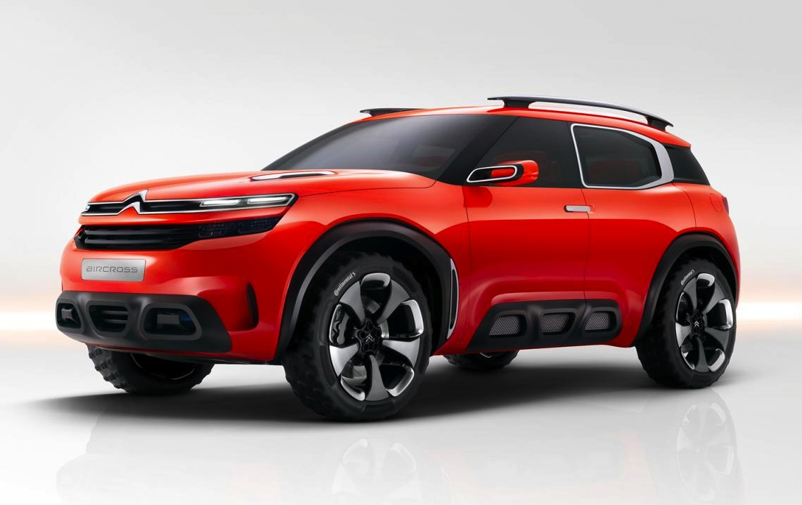 as you can see the aircross concept is an attempt at a full suv style