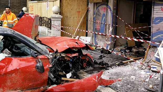 Ferrari 599 GTO crash valet