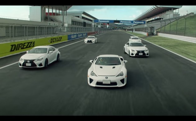 Lexus RC F and LFA