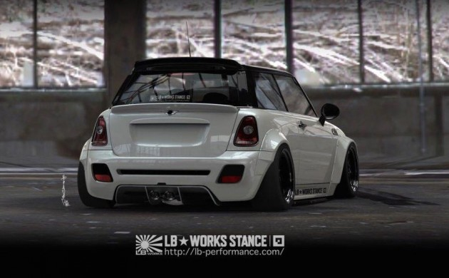 Liberty Walk MINI Cooper S-rear