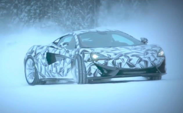 McLaren 570S-snow drift
