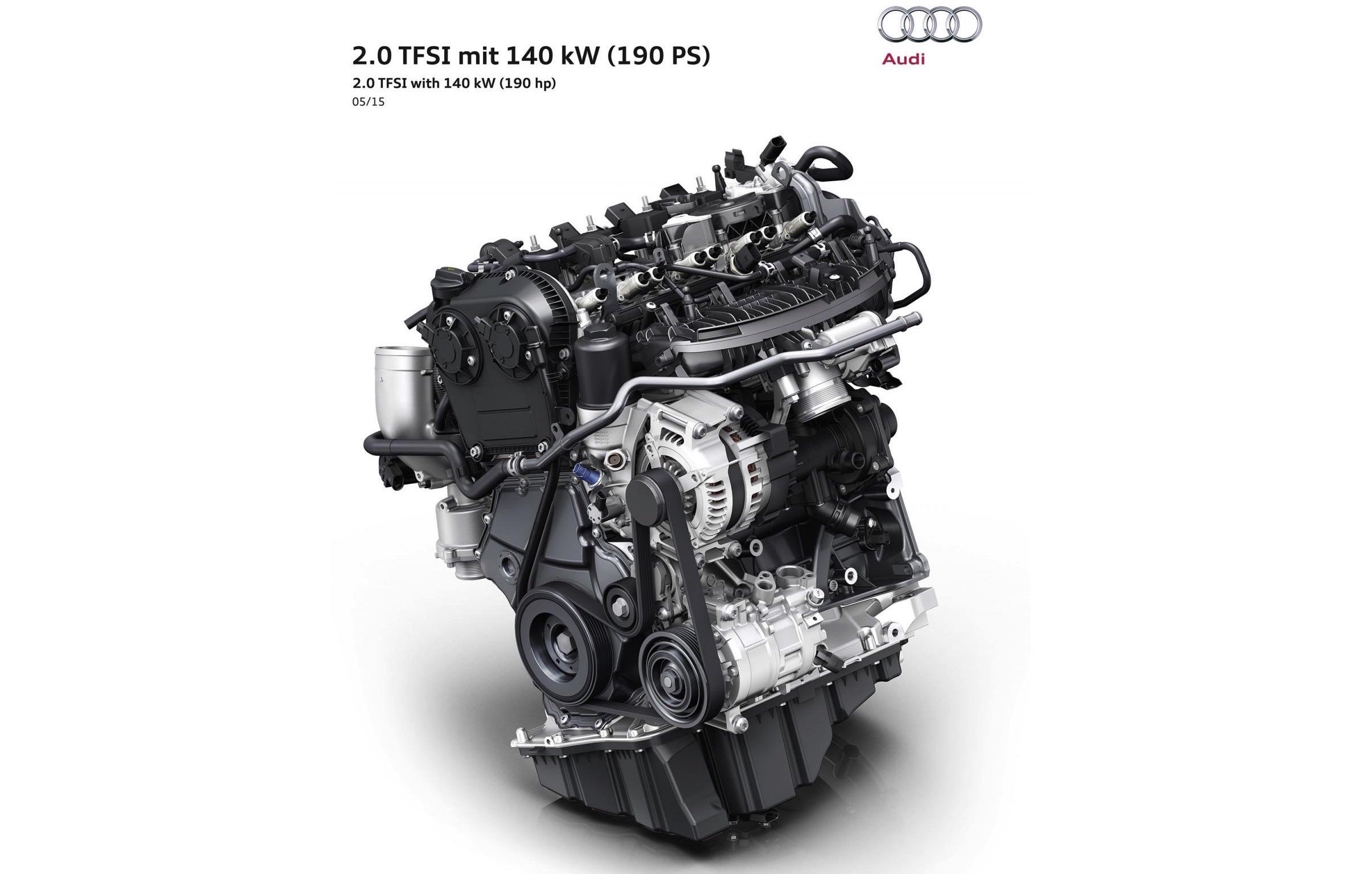 Audi debuts new 2.0 TFSI engine, uses 'rightsizing' philosophy ...
