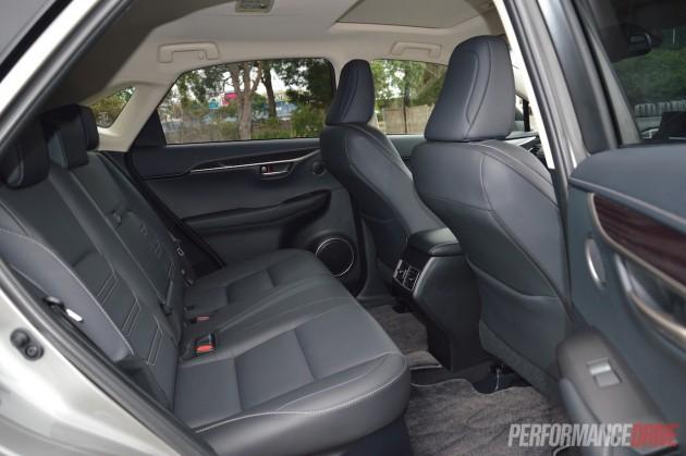 2015 Lexus NX200t-rear seats