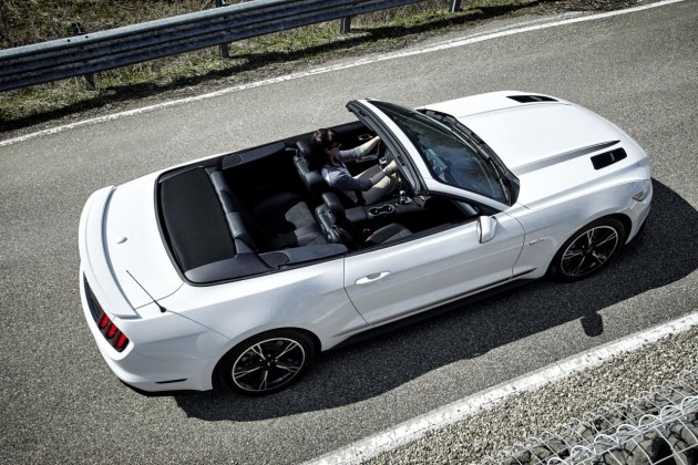 2016 Ford Mustang Pony convertible-roof down