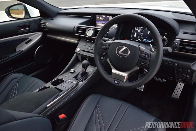Lexus RC F-interior