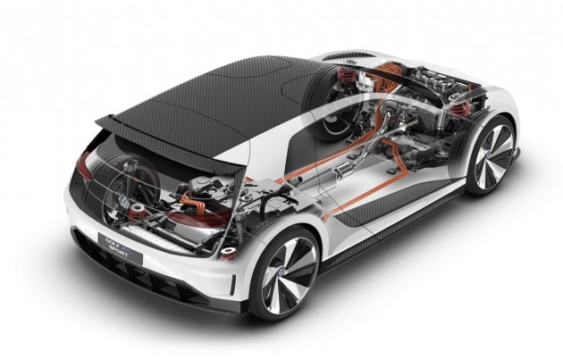 Volkswagen Golf GTE Sport Concept-powertrain