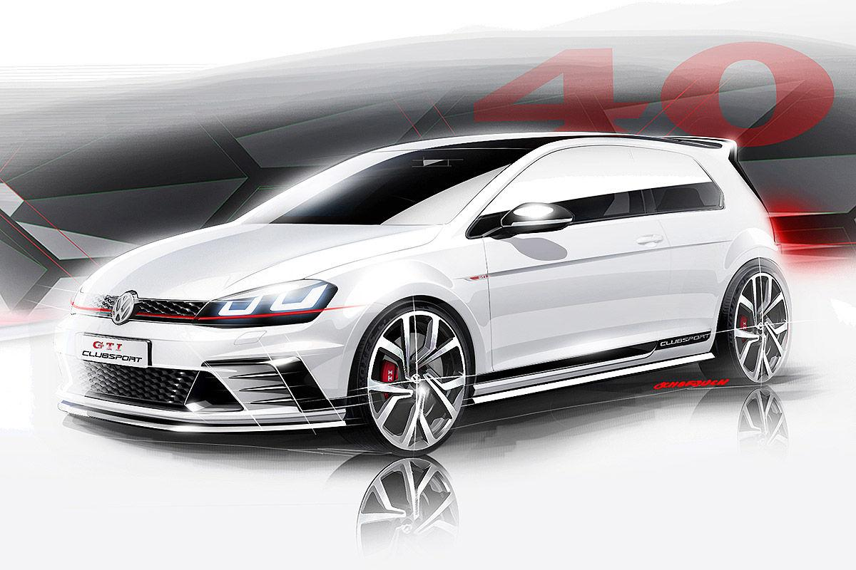 volkswagen golf gti clubsport concept previewed performancedrive. Black Bedroom Furniture Sets. Home Design Ideas
