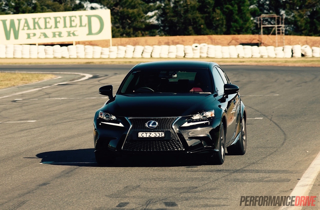 lexus is 300h f sport track test can you have fun in a. Black Bedroom Furniture Sets. Home Design Ideas
