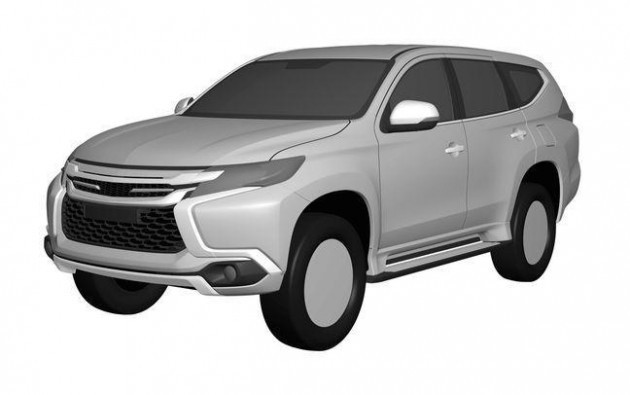 2016 Mitsubishi Challenger design patent