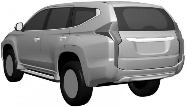 2016 Mitsubishi Challenger design patent-rear