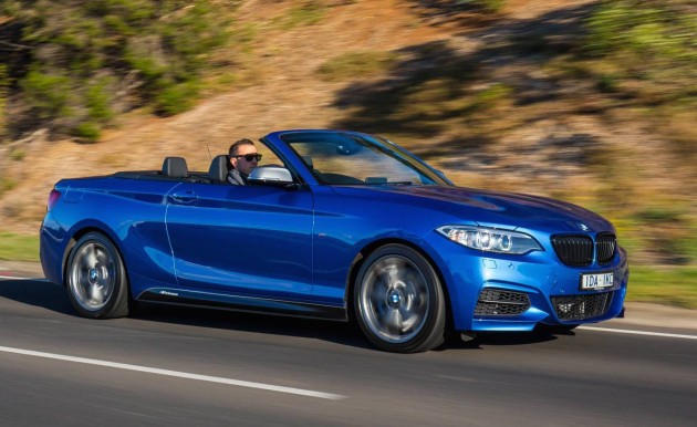 BMW M235i convertible-blue