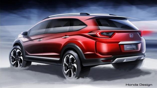 Honda BR-V sketch-rear