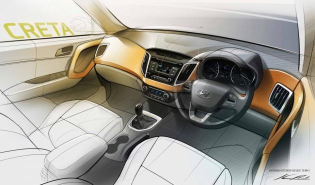 Hyundai Creta interior sketch