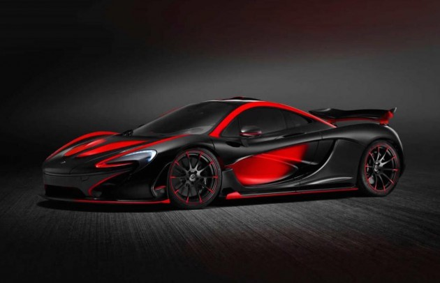 MSO McLaren P1 red and black