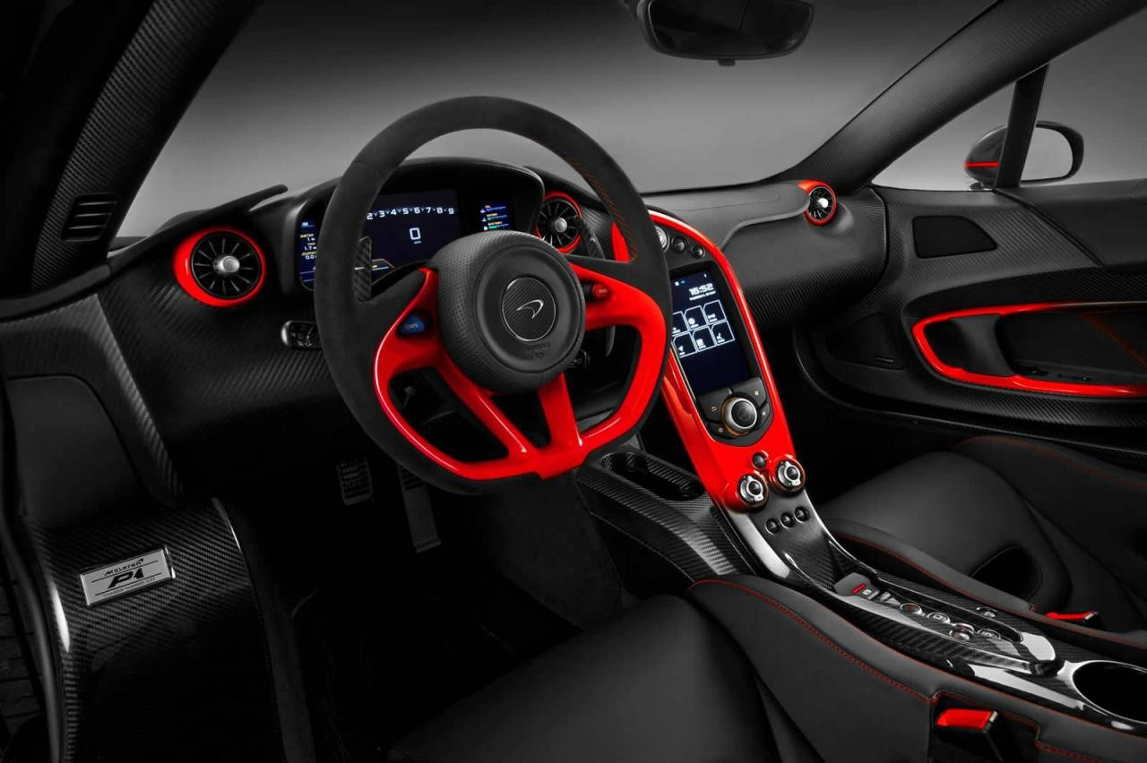 mso creates custom black red mclaren p1 performancedrive. Black Bedroom Furniture Sets. Home Design Ideas