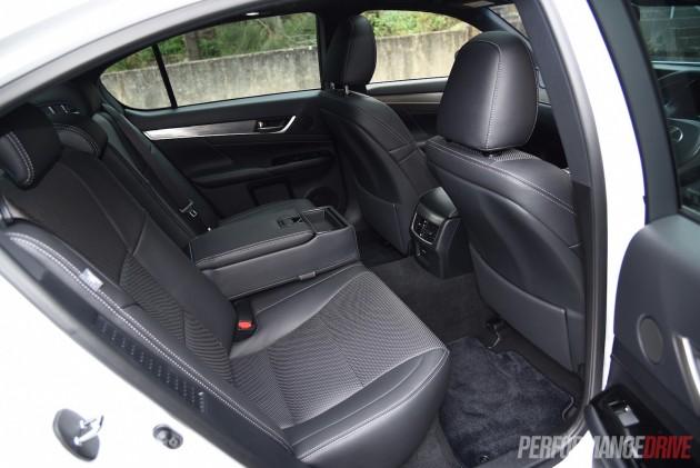 2015 Lexus GS 450h F Sport-rear seats