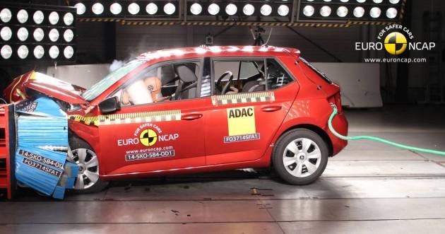 2015 Skoda Fabia NCAP crash