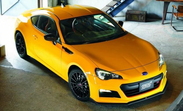 2015 Subaru BRZ tS STI-yellow
