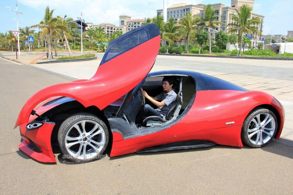 Man in China builds homemade supercar, EV powertrain ...