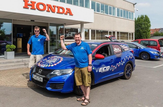 Honda Civic Tourer i-DTEC world record