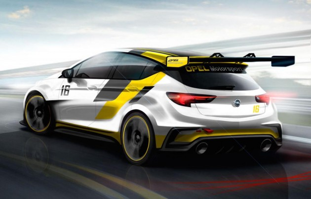 Opel Astra TCR preview-rear