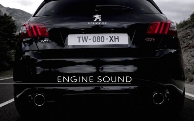 Peugeot 308 GTi engine sound