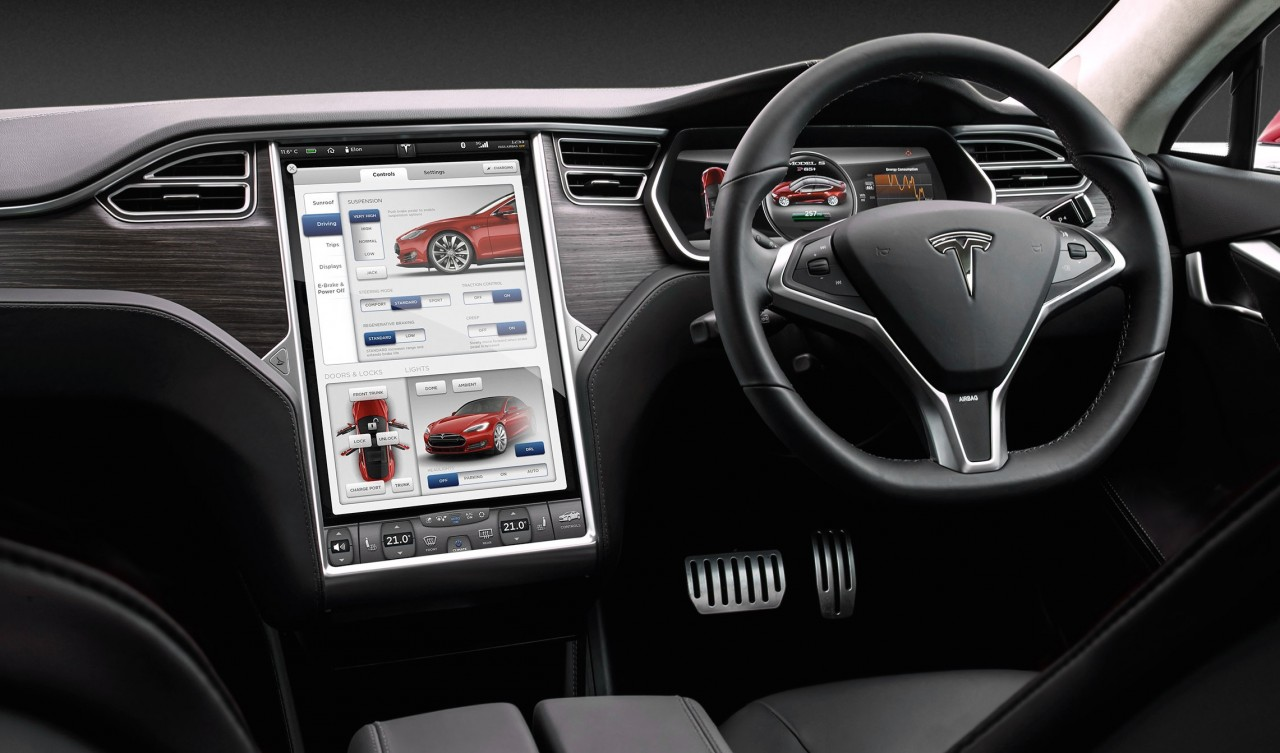 Tesla model s updated for australia p85d ludicrous pack for Tesla model s interieur
