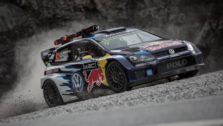 Volkswagen Polo WRC vs Volkswagen has released a new promotional clip pitting its mad Polo R WRC car against downhill skiing gold medalist Aksel Lund Svindal-2