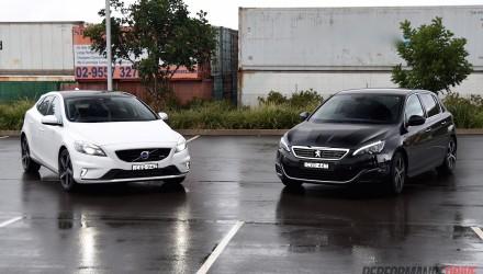 Volvo V40 T5 vs Peugeot 308 GT