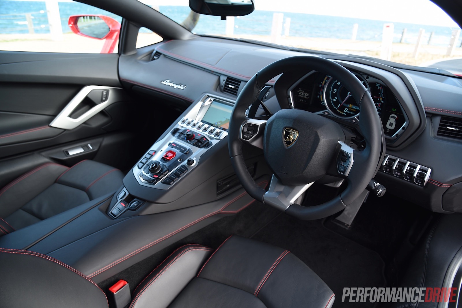 Group Of Lamborghini Aventador Interior For