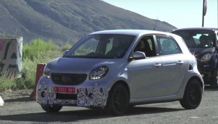 Video: 2016 BRABUS Smart ForFour prototype spotted